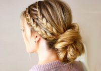 Trend beautiful prom hairstyles thatll steal the night southern Prom Updos For Medium Hair With Braids Inspirations