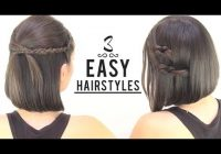 Trend easy hairstyles for short hair Simple Hairstyles For Very Short Hair Step By Step Ideas