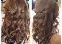 Trend half up half down hair with curls prom hairstyles for medium Prom Hairstyles For Medium Hair With Curls And Braids Ideas