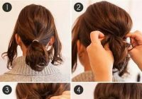 Trend holiday styling options for the short haired among us Cute Updos For Short Hair Tutorials Choices