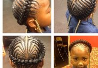 Trend kinkycurly relaxed extensions board kids braided African American Little Girl Braid Hairstyles Ideas