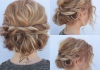 Trend quick and cute updo for short hair lots of texture and so Cute Updo Styles For Short Curly Hair Ideas