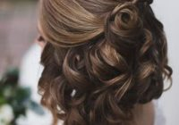 Trend wedding hairstyles for short hair half up half down hair Cute Short Hairstyles For Bridesmaids Ideas